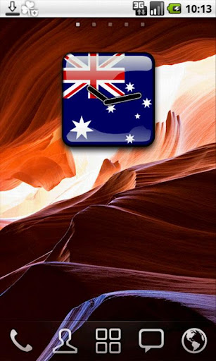 Australia Flag Clock Widget