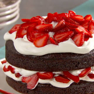 Chocolate Cake with Whipped Cream and Berries.