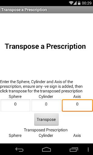 Transpose a Prescription