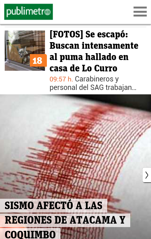 Publimetro Chile - screenshot