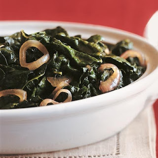 Tuscan Kale with Caramelized Onions and Red-Wine Vinegar.