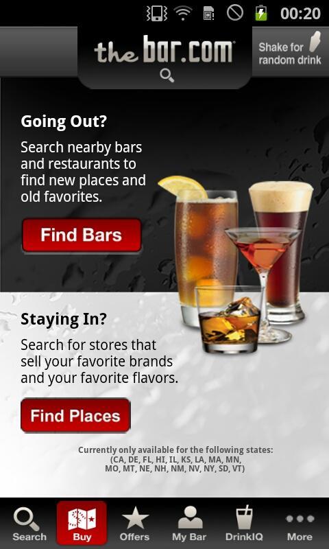 TheBar.com- screenshot