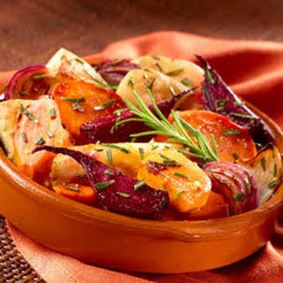 Oven-roasted Root Vegetables.