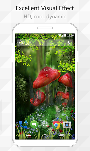 Color Mushroom Live Wallpaper