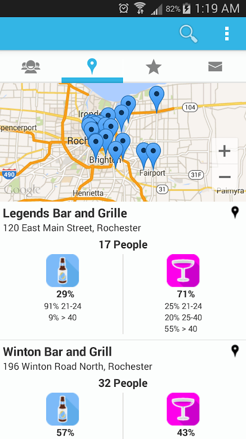 Barcastr - Local Bar Finder - screenshot