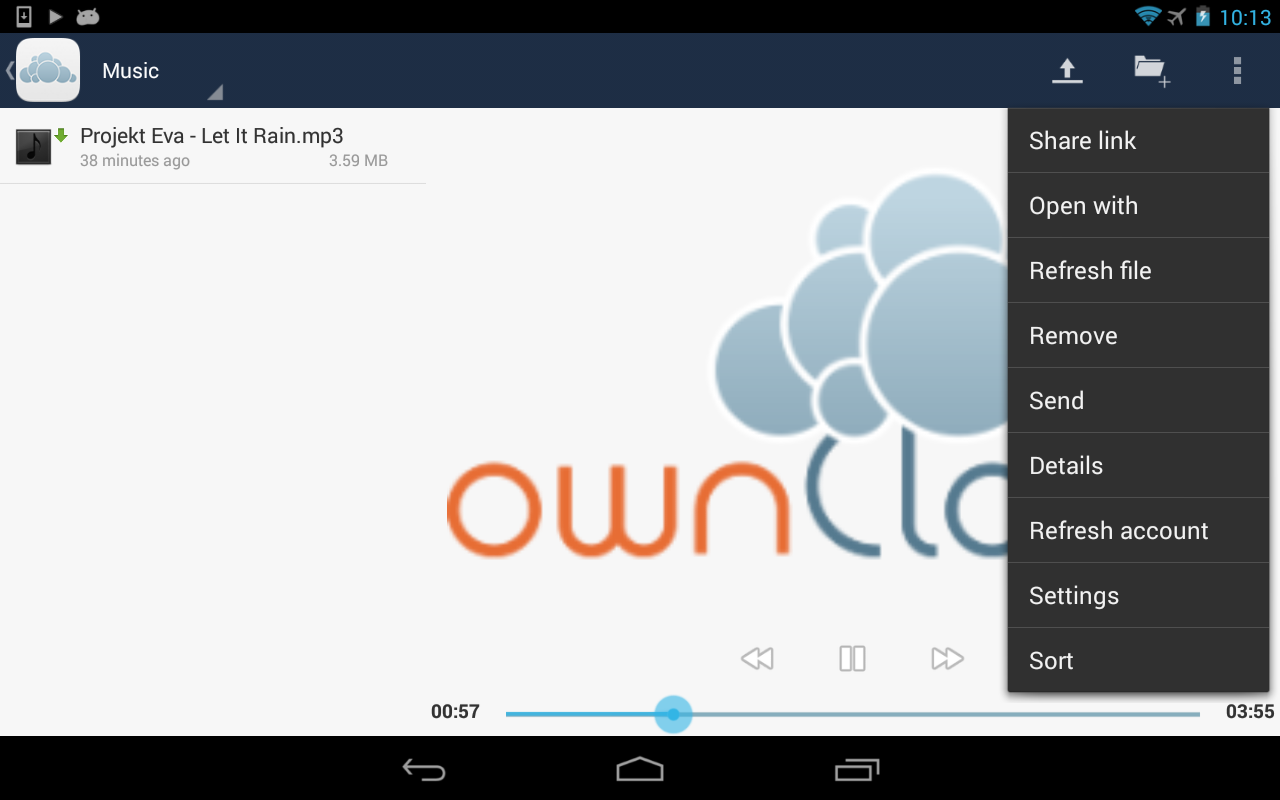 ownCloud - screenshot