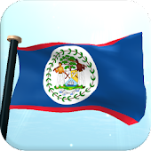 Belize Flag 3D Free Wallpaper