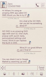 ZMilk GO SMS THEME - screenshot thumbnail
