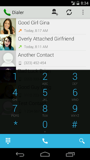Kitkat theme for myDialer