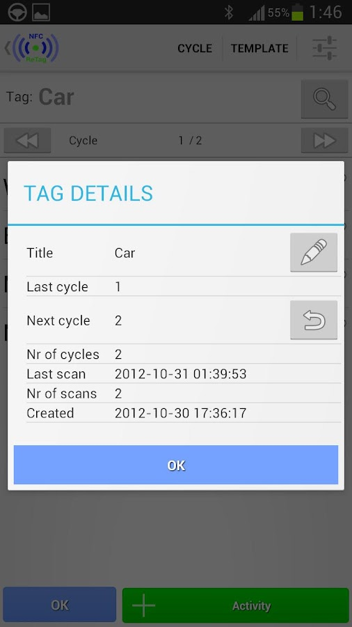 NFC ReTag FREE- screenshot