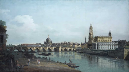 Dresden seen from the Right Bank of the Elbe, beneath the Augusts Bridge