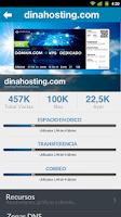 Screenshot of dinahosting