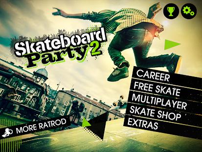 7 Skateboard Party 2 Lite App screenshot