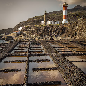 fuencaliente lighthouses and saltpans by Lester Woodward - Buildings & Architecture Other Exteriors ( saltpans, lighthouse, fuencaliente, canaries, faro )
