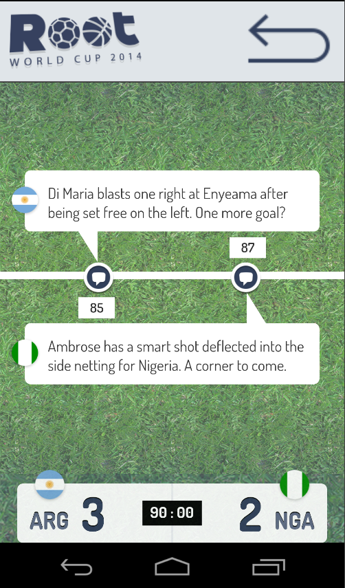 Root World Cup 2014 - screenshot