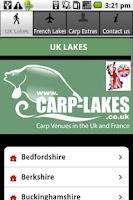 Screenshot of carp lakes