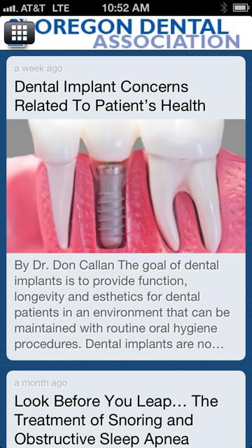 Oregon Dental Ass'n - screenshot