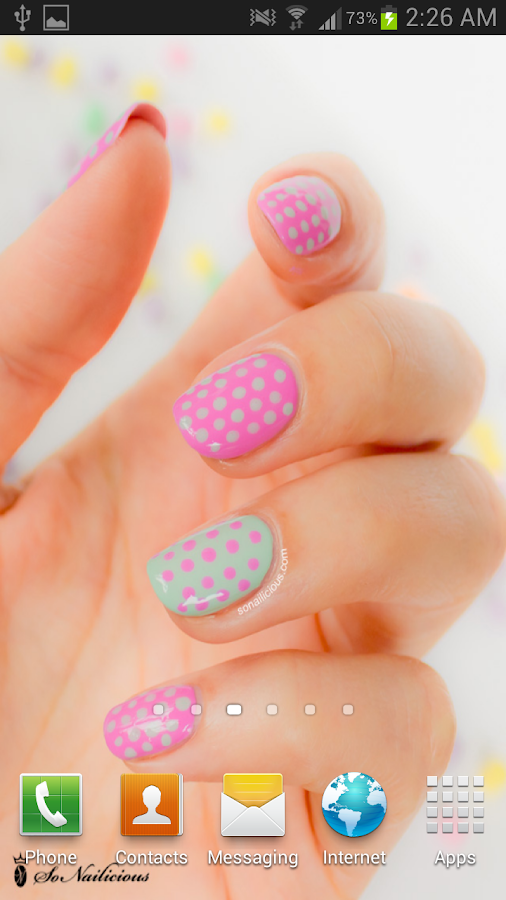 Nail Art HD Live Wallpaper - screenshot
