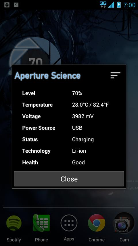Aperture Science Battery - screenshot
