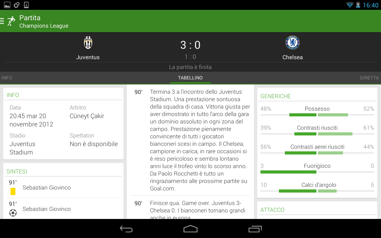 THE Football App, tutto calcio - screenshot