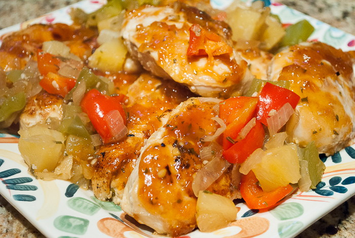 Hawaiian Chicken Breasts with Sweet Bell Peppers and Pineapple Recipe