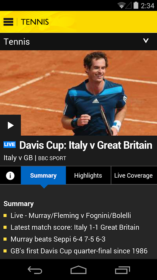 BBC Sport - screenshot