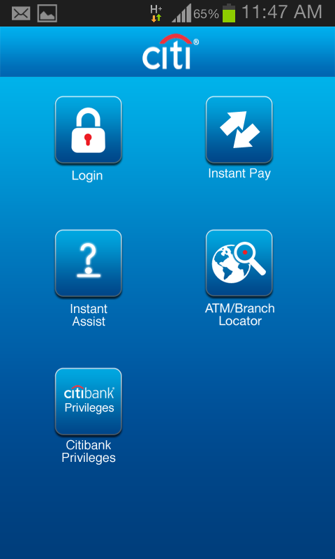 Citibank IN - screenshot