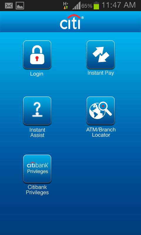 Citibank IN- screenshot