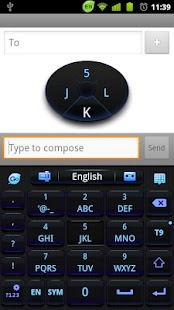 GO Keyboard Black Blue 2014 - screenshot thumbnail
