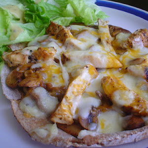 Chicken and Mushroom Pizza