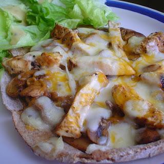 Chicken and Mushroom Pizza.