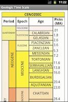 Screenshot of Geologic Time Scale