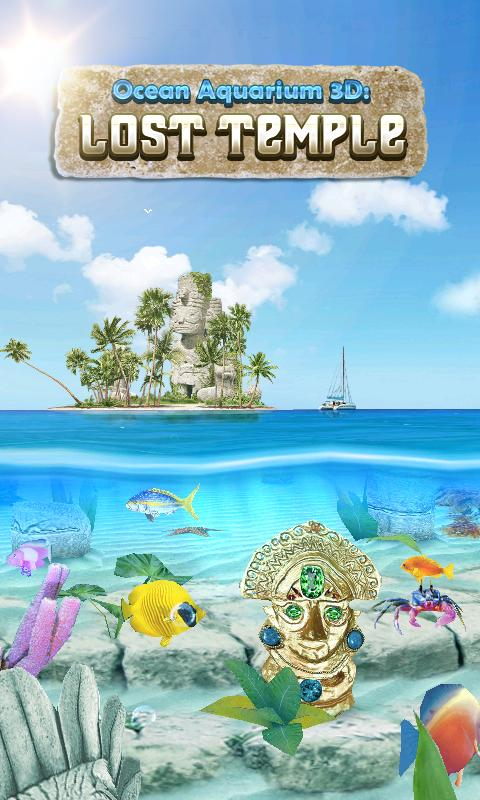 Ocean Aquarium 3D: Lost Temple- screenshot