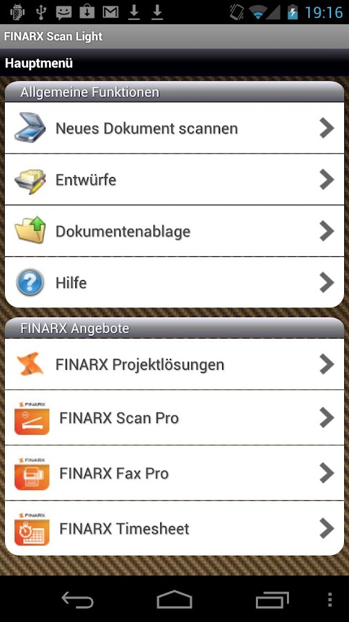 FINARX Scan Light- screenshot
