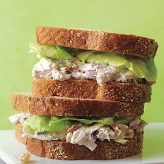Poached-Chicken-Salad Sandwiches.