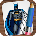 Drawing Super Heroes APK for Bluestacks