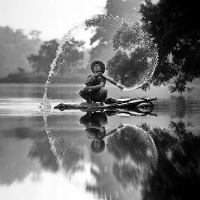 by DODY KUSUMA  - Black & White Street & Candid ( black and white, b&w, landscape,  )