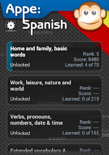 Appe: Spanish Learner game- screenshot thumbnail