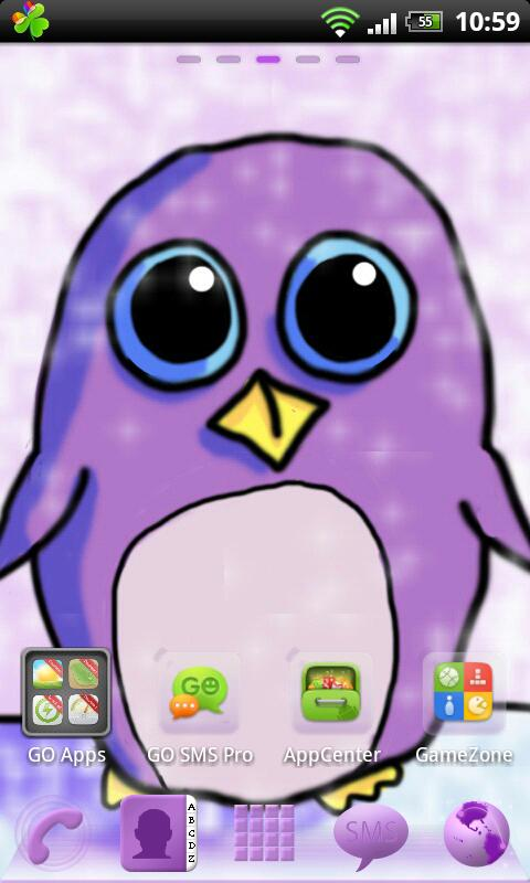 Go Launcher EX Theme Penguin- screenshot