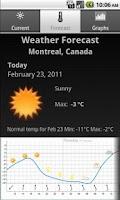 Screenshot of Celinium Weather Montreal, Qc.