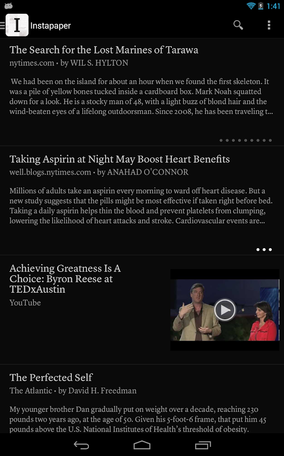 Instapaper - screenshot