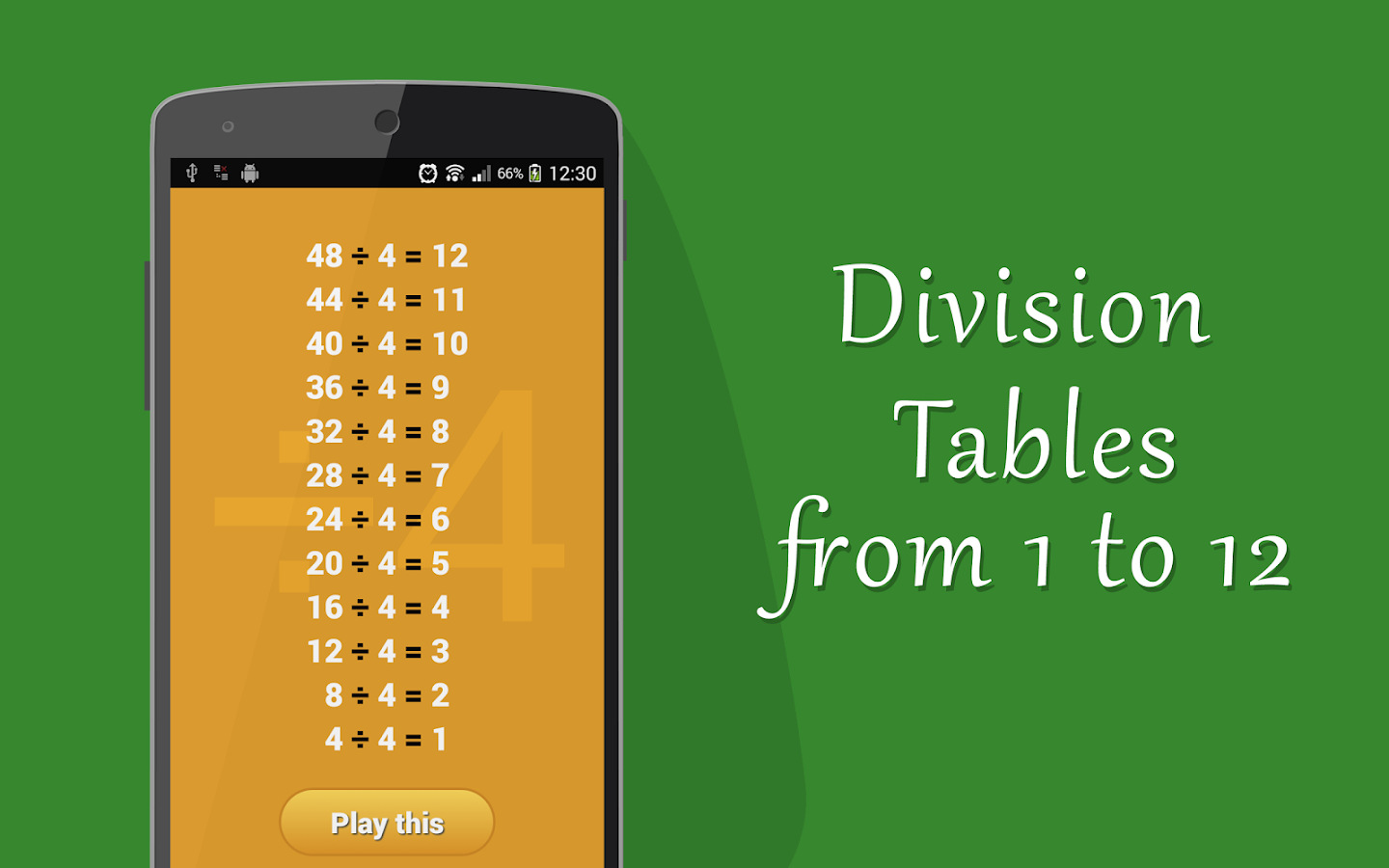 Learn division tables for kids android apps on google play for Table 6 to 12