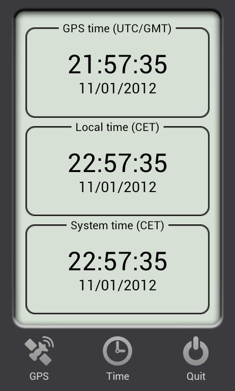 Satellite Time Reader (Free)- screenshot