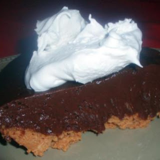 Chocolate Pie With Peanut Butter Crust.