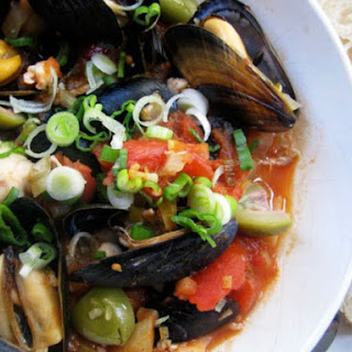 Fish and Mussel Stew with Green Olives