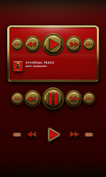 Poweramp Widget Red Elegance APK screenshot thumbnail 2