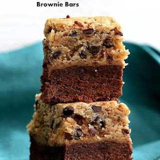 Chocolate Chip Cookie Date Caramel Brownie Bars. Vegan