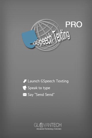 Hands free speech SMS text Pro