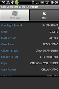 Ctrl: Microsoft Word Shortcuts - screenshot thumbnail