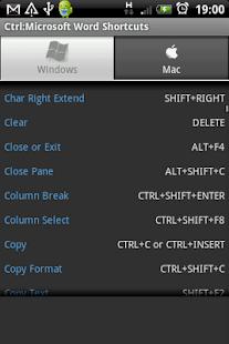 Ctrl: Microsoft Word Shortcuts